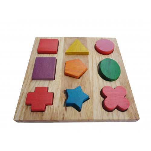 Wooden Preschool Toys - Basic Shape Board - 100 % Brand new