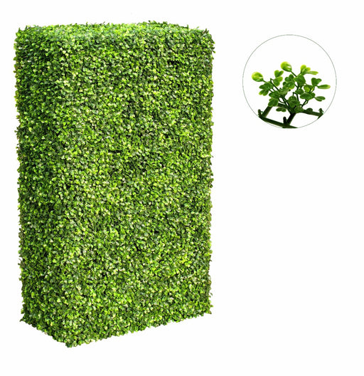 Large Portable Mixed Box Wood Plant Hedges UV Stabilised 2m By 1m