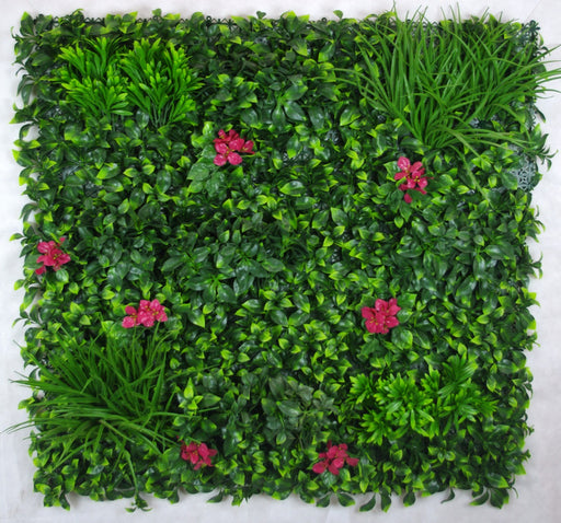 Artificial Pink Lily Vertical Garden UV Stabilised 1m X 1m