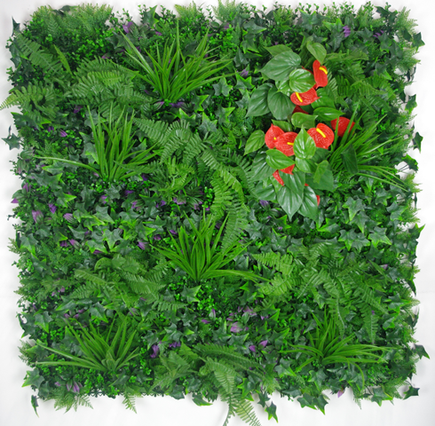 Artificial Mixed Jungle Vertical Garden UV Stabilised Office 1m X 1m
