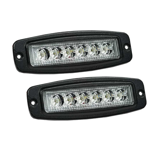2X 7INCH 30W CREE LED LIGHT BAR DRIVING FLOOD WORK LAMP FLUSH MOUNT OFFROAD
