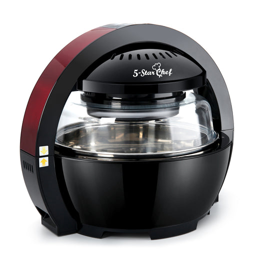 13L Multipurpose Air Fryer Oven Cooker 1300W - Black & Red