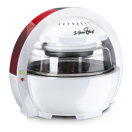13L Multipurpose Air Fryer Oven Cooker 1300W - White & Red