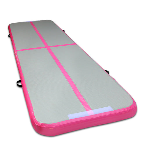 Inflatable Air Track Mat Gymnastic Tumbling - Pink & Grey
