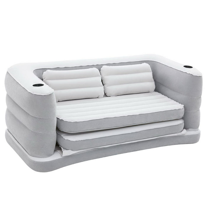Bestway Inflatable 5 in 1 Multi-functional Couch Double-sized Air Bed Sofa Grey
