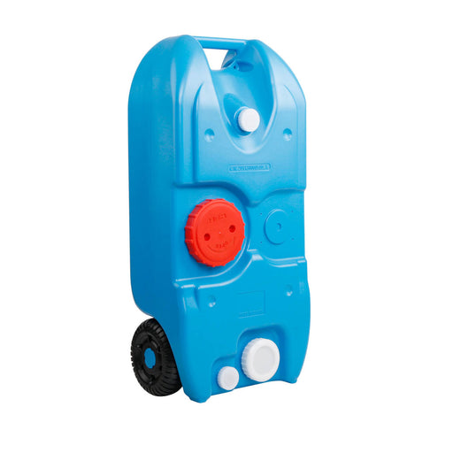 40L Wheel Water Tank Portable Outdoor Caravan Camping Motorhome Container -Blue