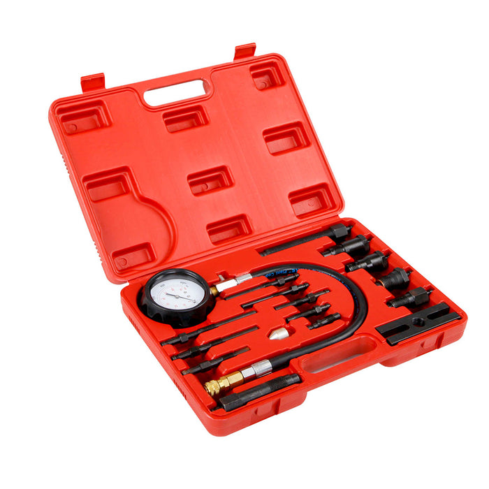 17 pc Diesel Engine Compression Automotive Compressor Tester Kit Tool Set