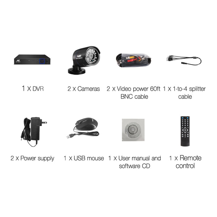 1080P 4-channel CCTV Security Camera System