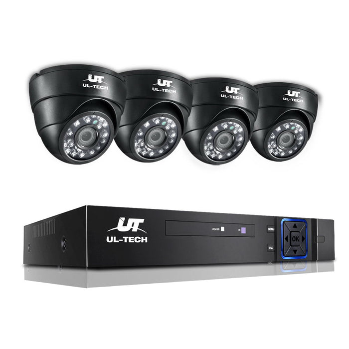 4X 1080P Four Channel HDMI Wi-Fi CCTV Security Camera Home Outdoor