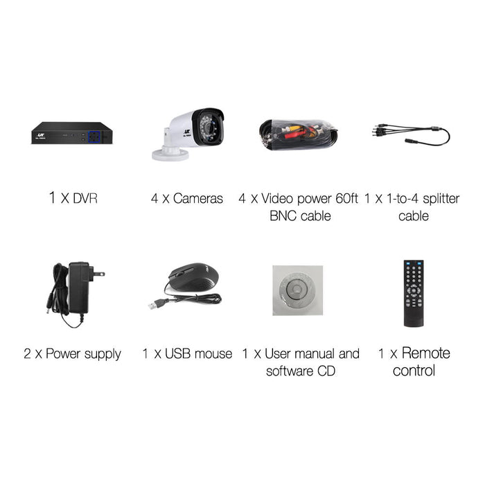 1080P Eight Channel HDMI CCTV Security Camera