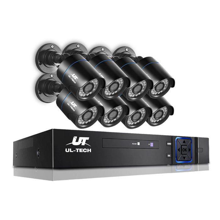 8X 1080P Eight Channel HDMI Wi-Fi CCTV Security Camera Home Outdoor