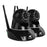 2X 1080P Wireless IP Camera Security System Monitor Night Vision Black