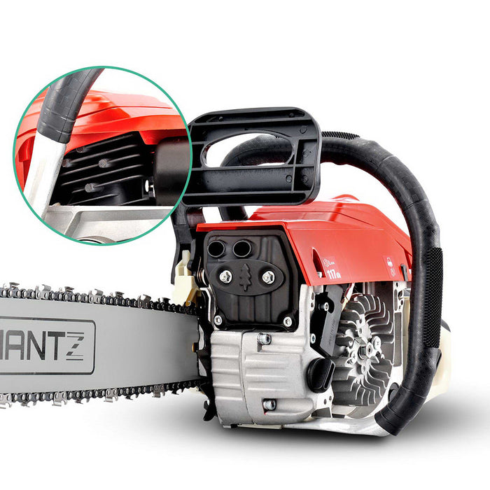 58CC Commercial Petrol Chainsaw - Red & White
