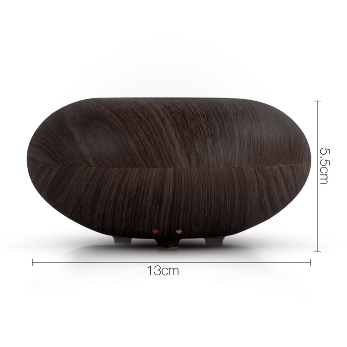 160ml 4-in-1 Aroma Aromatherapy Diffuser Ultrasonic Air Humidifier Purifier- Dark Wood