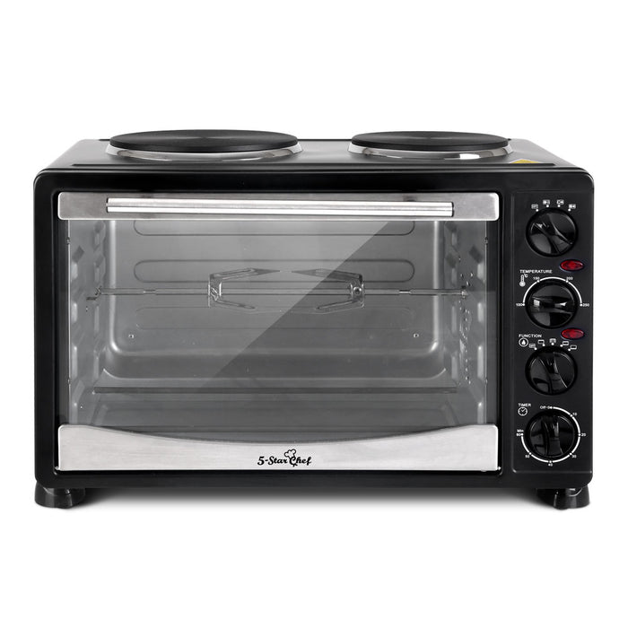 34L Portable Convection Oven - Black