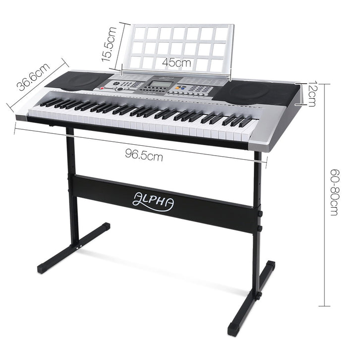 61 Keys Electronic Keyboard Adjustable Stand Music Sheet Holder