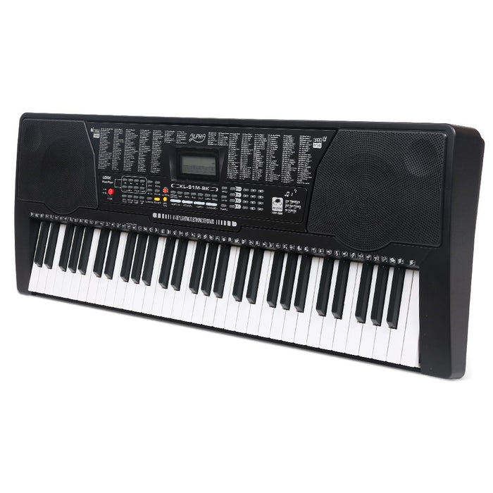 61 Keys Lighted Electronic Keyboard Adjustable Stand Music Sheet Holder