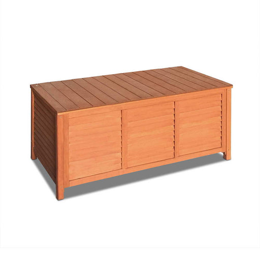 Outdoor Wooden Garden Storage Box Chest Bench Timber Chair Furniture