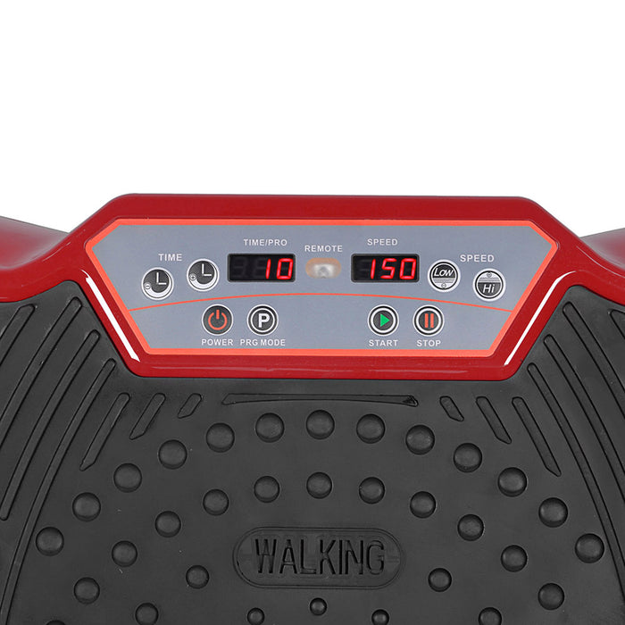 1000W Vibrating Plate with Roller Wheels - Dark Red