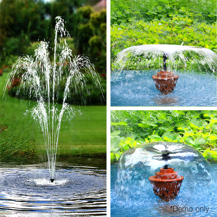 1600L/H Submersible Fountain Pump with Solar Panel Indoor Outdoor