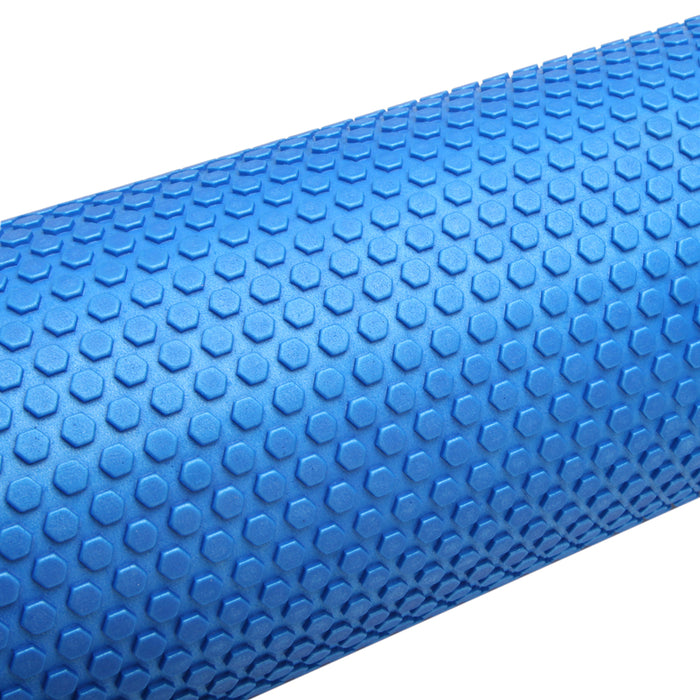 90 x 15cm Foam Roller EVE Yoga Pilates Back Gym Exercise Hard Massage Training-Blue
