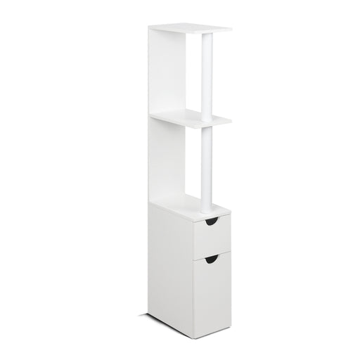 Freestanding Bathroom Storage Cabinet Toilet Shelf Holder Cupboard Laundry Doors