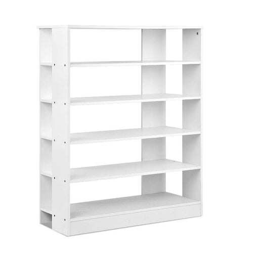 30 Pairs 6-Tier Wooden Shoe Rack Holder Storage Shelf  Cabinet Organiser White