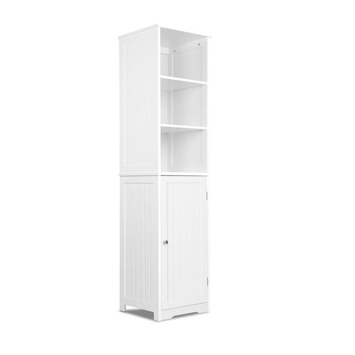 6-Tier Kitchen Pantry Cupboard Wooden Cabinet Storage Cabinet Tall- White