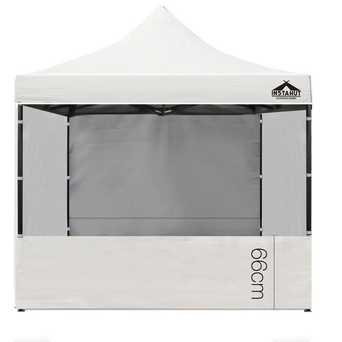 3x3m Gazebo Outdoor Pop Up Tent Folding Marquee Party Camping  White