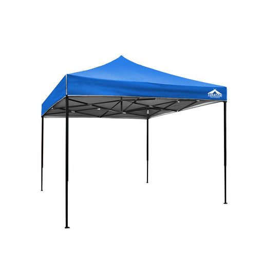 3x3m Gazebo Outdoor Pop Up Tent Folding Marquee Party Camping Canopy Blue