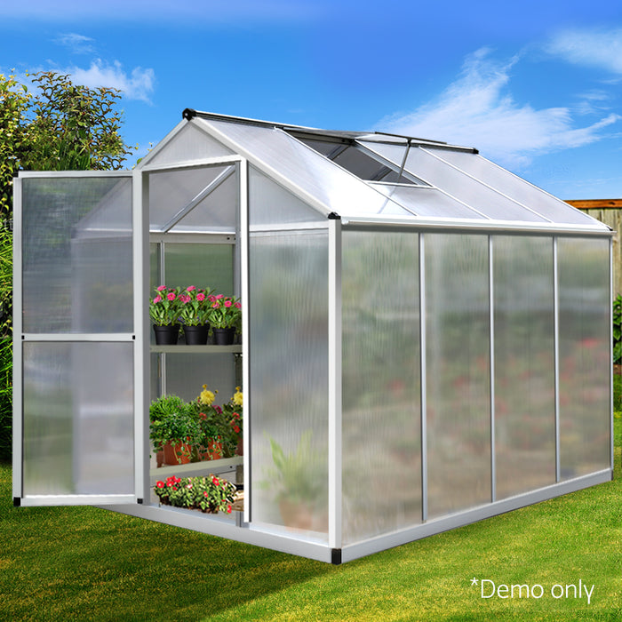 2.42 x 1.9M Polycarbonate Aluminium Green House