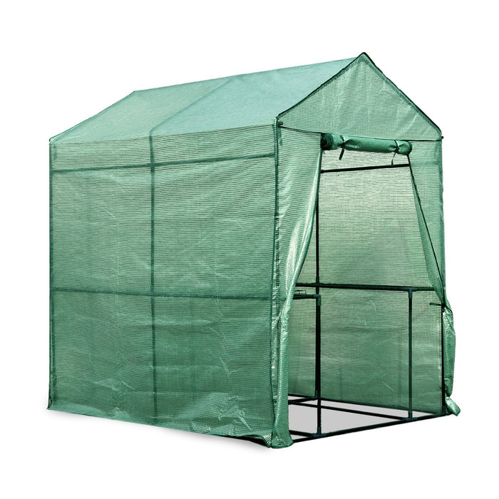 1.9 x 1.2M Walk-in All Weather Plant Green House Garden Storage Sheds
