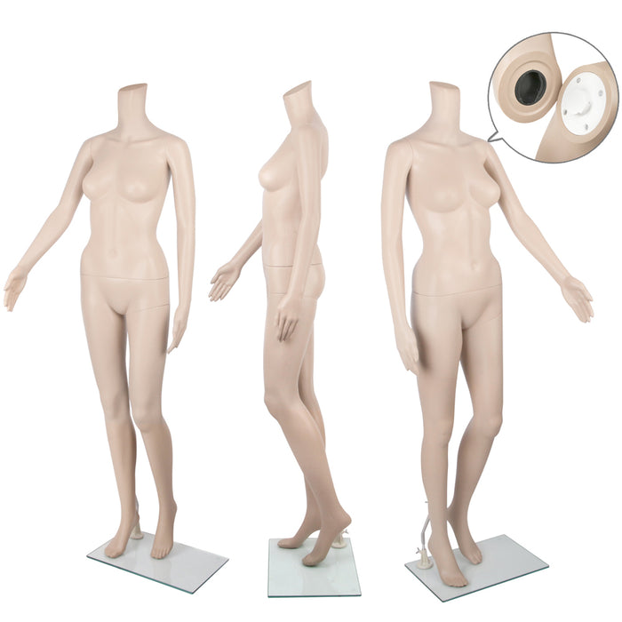 175cm Tall Female Mannequin Full Body Clothes Display Showcase Commercial-Detachable