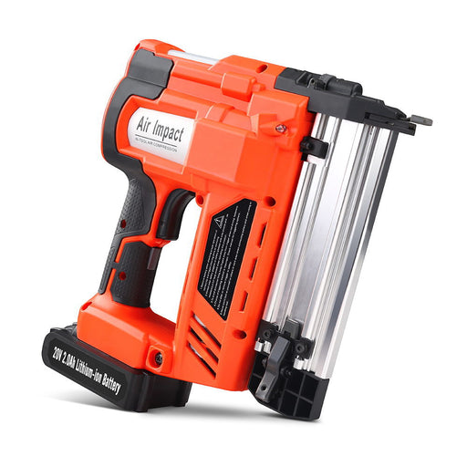 2-in-1 Cordless Nail Gun with a 20V Lithium-Ion Battery