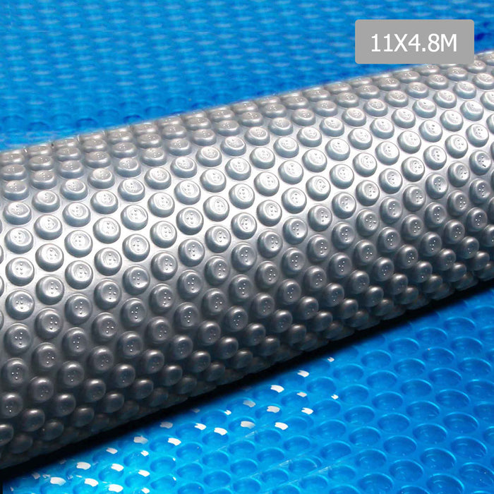 11x 4.8M Solar Swimming Pool Cover  Outdoor Blanket Isothermal- Blue & Grey