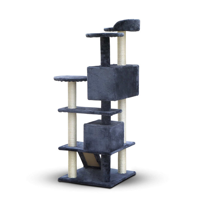 134cm Cat Scratching Tree Post - Grey