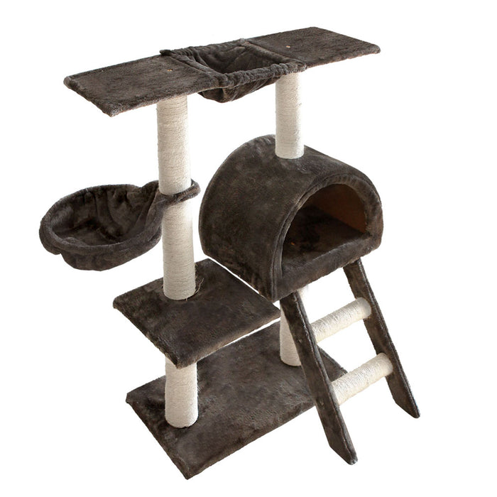 100cm Cat Tree Scratching Post Scratcher Pole Gym Toy House Grey