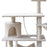 141cm Cat Kitten Tree Tower Post Toy Condo Scratch Post Pet House Play Beige
