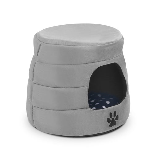 Foldable Pet Bed House Sleeping Kitten Warm Cat Dog Puppy Soft Cushion - Grey