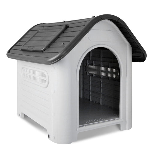 i.Pet Weatherproof Pet Kennel - Grey