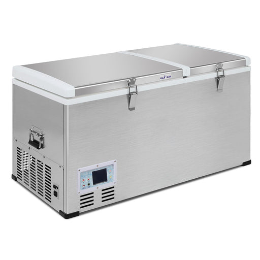 105L Portable 2 in 1 Fridge Freezer Cooler Refrigerator LCD Display