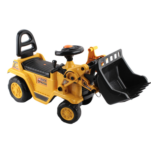 Kids Ride-On Digger Tractor Loader Bulldozer Toy Car Yellow