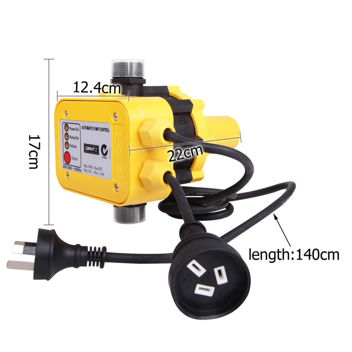 Automatic  Pressure   Control Switch Electric Electronic Water Pump  Controller  - Yellow