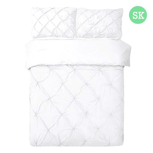 Super King Size Quilt Cover Set - White