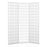 3 Panel Room Divider Screen Wooden Timber Natural Fold Stand Privacy - White