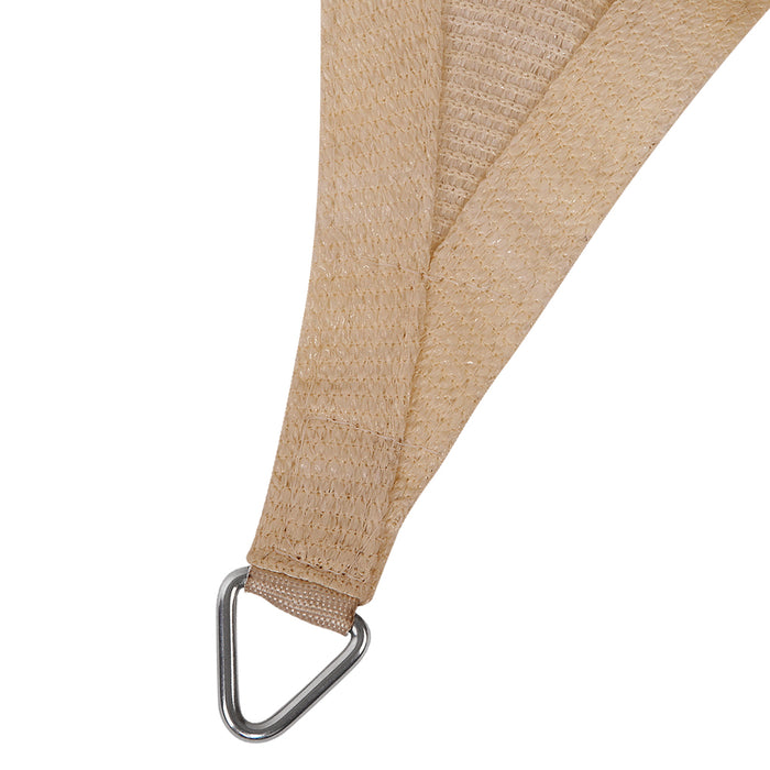 4 x 6m Rectangle Shade Sail Cloth - Sand Beige