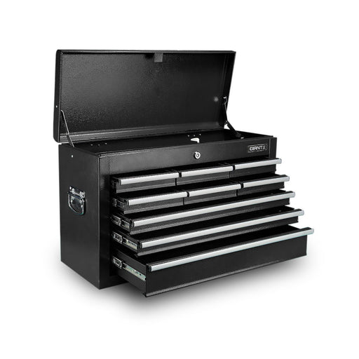 Giantz 9 Drawer Mechanic Tool Box Storage Chest - Black