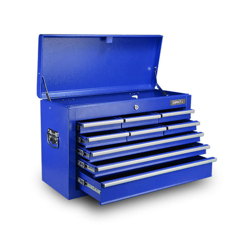 9 Drawer Mechanic Tool Chest Box Garage Toolbox Storage - Blue