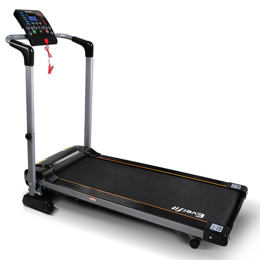 Electric Treadmill - Black and Silver