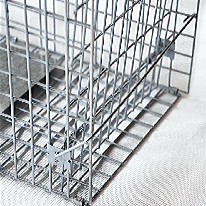 94 x 34 x 36cm  Humane Possum  Bird Hare Animal Cage Live Safe Catch Feral Hare- Silver